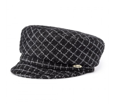 Cap - Ella - Linton Tweed black/silver