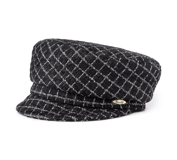 Cap - Ella - Linton Tweed - black/silver