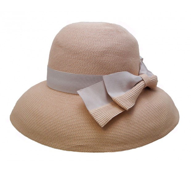 Wide brim hat - Tara - dusty pink - travel hat