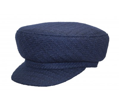 Cap - Brandon - Navy Tweed