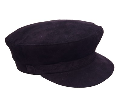 Cap - Shipper's - Black Suede