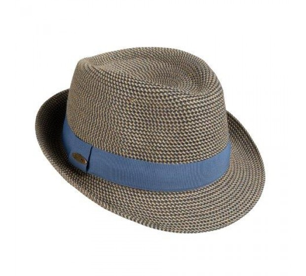 Trilby hat - Trilby - blue melee -travel hat
