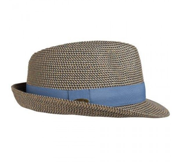 Bronté Trilby hat - Trilby - blue melee -travel hat