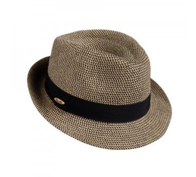 Trilby hat - Trilby - black/beige melange - travel hat