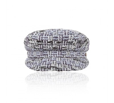 Cap - Shipper - grey Linton Tweed