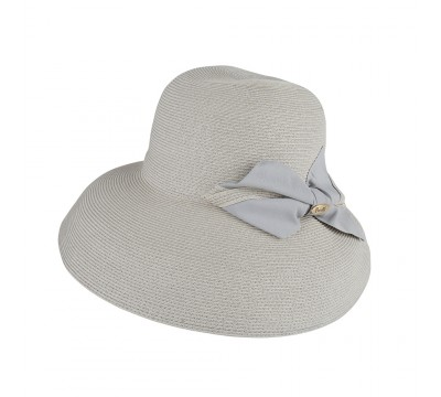 Wide brim hat - Chloé- grey - travel hat