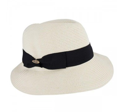 Trilby Fisher hat  - ivory - travel hat