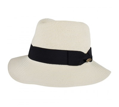 Fedora hat - Josephine - ivory - super braid -travel hat