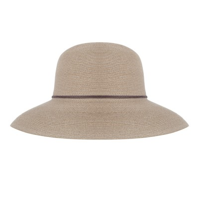 Wide brim hat - Anna - taupe - travel hat