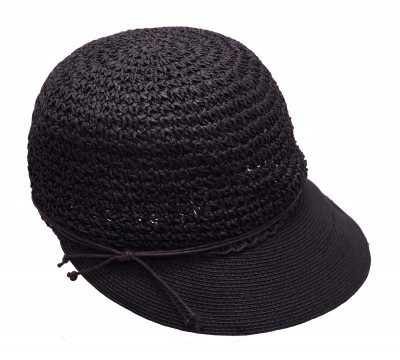 Summer cap - Emma - black - travel cap