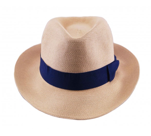 Fedora hat - Josephine - natural - in super braid - travel hat