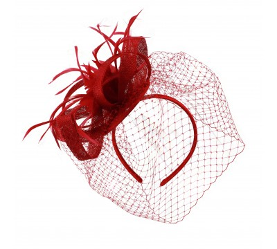 Fascinators - Veerle - red