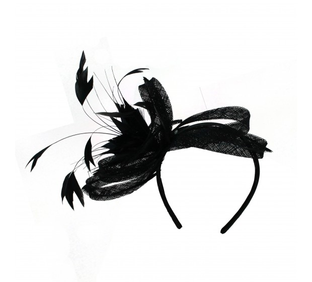 Fascinators - Anne - Black
