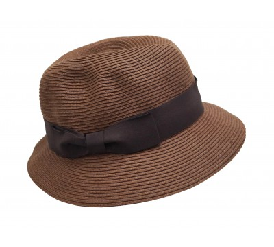 Trilby hat - Fisher hat - tan brown - travel hat
