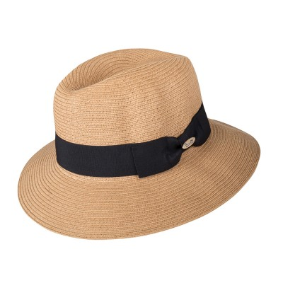 Fedora hat - Josephine - camel - in superbraid - travel hat