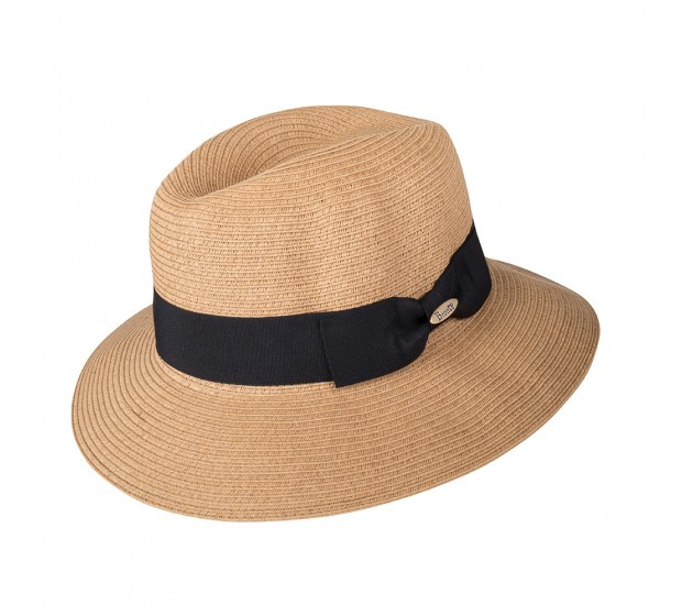 Bronté Fedora hat - Josephine - natural - in super braid - travel hat