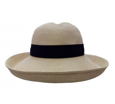 Wide brim - Bonnie - in natural - travel hat
