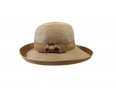 Wide brim hat - Bonnie - camel/camel - travel hat