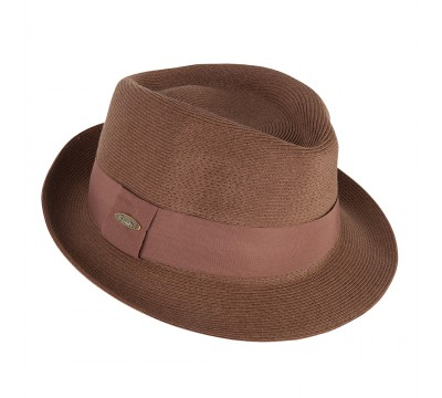 Trilby hat - Trilby - tan brown - travel hat