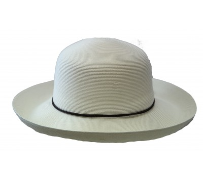 Wide brim hat - Anna - white - travel hat