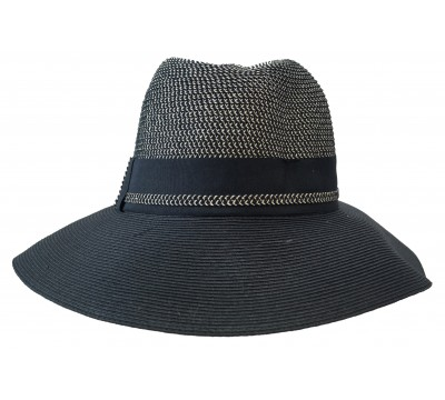 Fedora Hat - Cien - bicolour black/melange. - travel hat