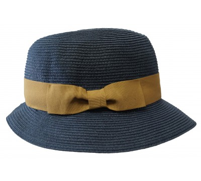 Trilby hat - Fisher - Navy/camel - travel hat