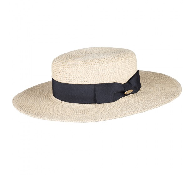 Boater hat - Gabrielle - natural