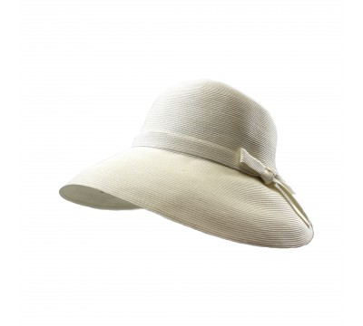 Wide brim hat - Joanna - white
