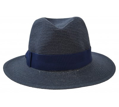 Fedora hat - Josephine - navy - travel hat