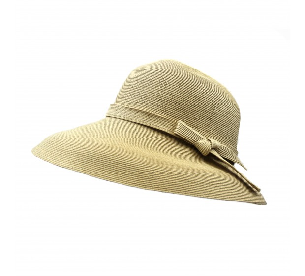 Wide brim hat - Joanna - natural - travel hat