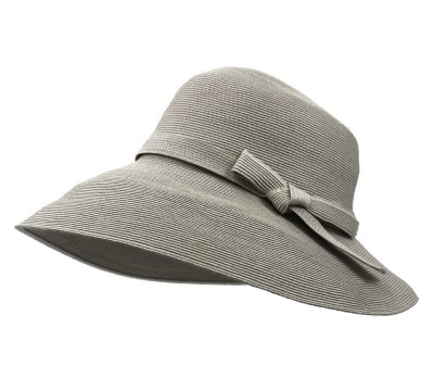 Wide brim hat - Joanna -  grey greige - travel hat