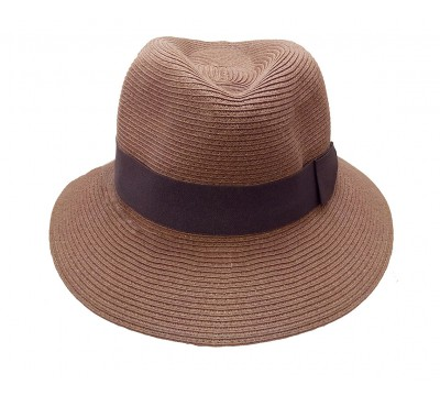 Fedora hat - Josephine - Tan brown - travel hat