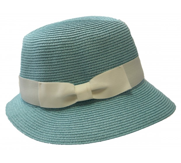 Trilby - Fisher hat - turquoise -  travel hat