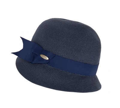 Cloche hat -Cloche- navy blue - travel hat