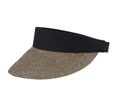 Sun visor - Evy - black natural melee