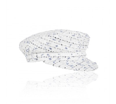 Cap - Shipper - Linton Tweed white melange