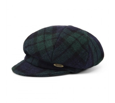 Cap - Romee - Harris Tweed black/green/blue