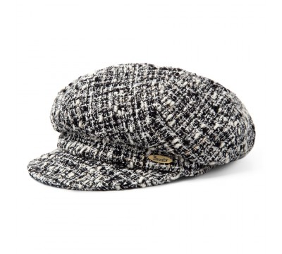 Cap - Romee - Linton Tweed - black/ivory