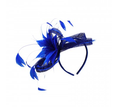 Fascinators - Anne - Royal blue