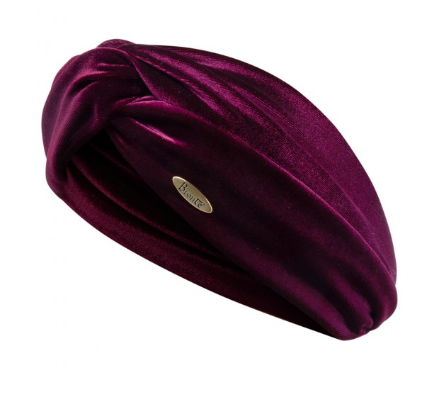 Headband - June - burgundy red - velvet