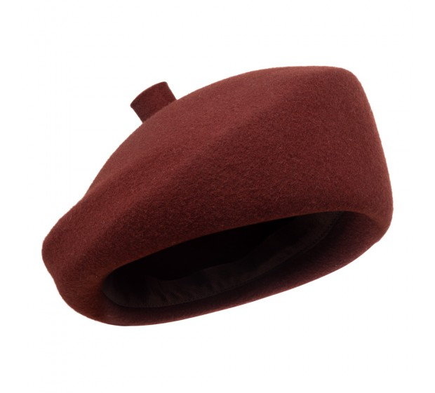Bronté Beret - Mare/B - bordeaux red