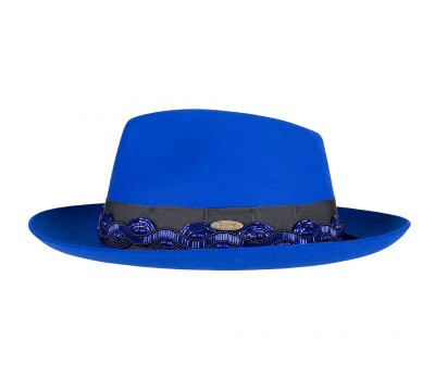 Fedora hat - Alin - royal blue