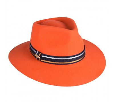 Fedora hat - Charley - orange
