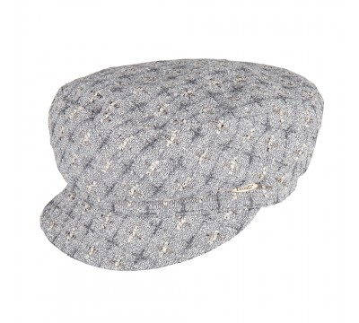 Cap - Ella - grey Linton Tweed