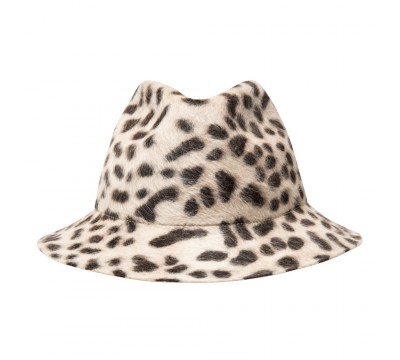 Fedora hat - Fedora- animal print