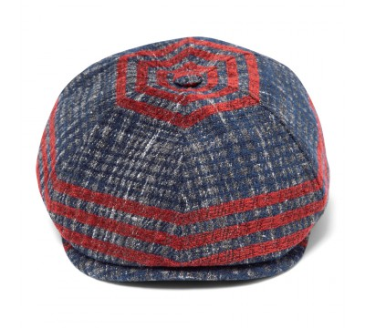 Cap - Rocky - blue/red - wool mix