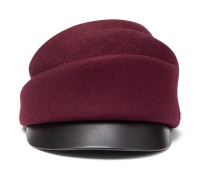 Cap - Tess- burgundy red