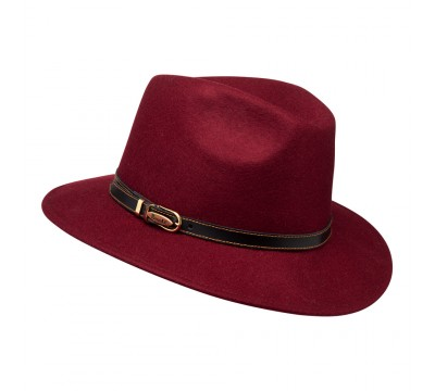 Fedora hat - Cleo - Burgundy red