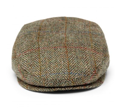 Cap - Mark- olive green - Harris Tweed
