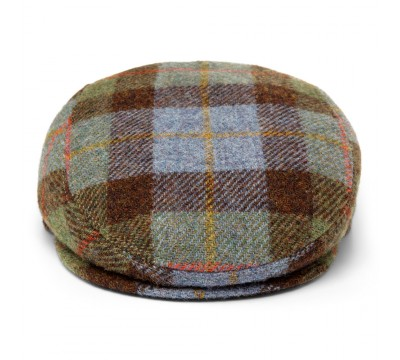 Cap - Mark- multicolour check - Harris Tweed